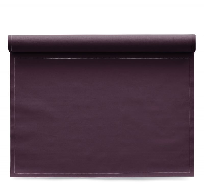 Sets de table en tissu Basic Burgundy 48x32cm